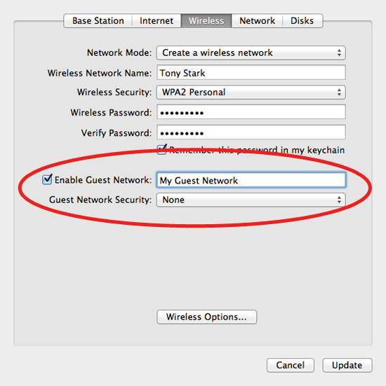 How to Create a Guest Network with an AirPort   Macinstruct