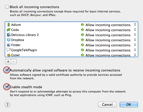 how to deactivate firewall on mac
