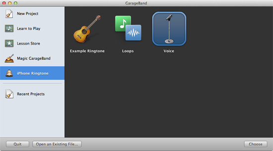 Creating an iPhone ringtone in GarageBand