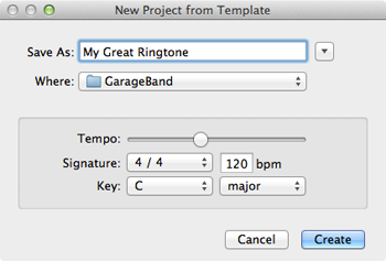 Saving the iPhone ringtone project