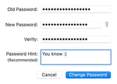Change Mac password