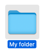 Folder icon in macOS