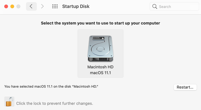 Changing your Mac's startup disk