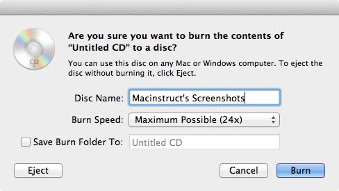 How to Burn a Data Disc on the Mac