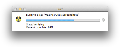 How to Burn a Data CD or DVD in Mac OS X | Macinstruct