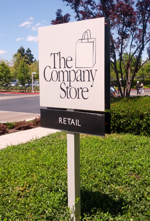 Apple's Company Store sign