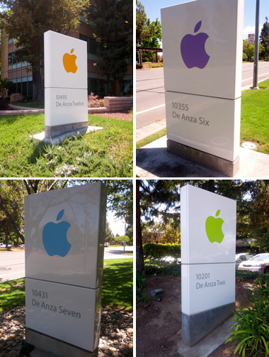 Apple office signs