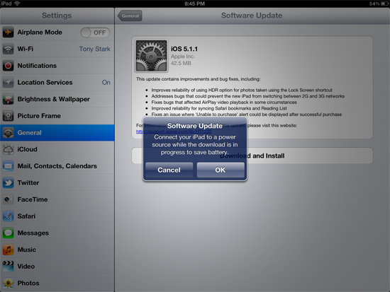 iPad software license agreement