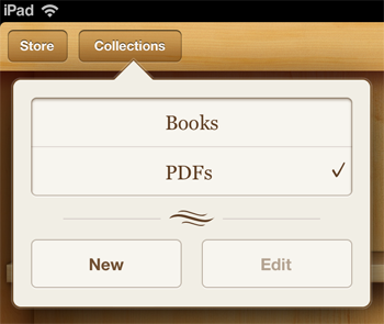 Where to find saved PDF files on an iPad