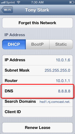 iphone wont connect to server computgozez change your iphone s dns servers 17743
