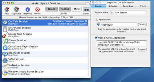Audio Hijack application for Mac
