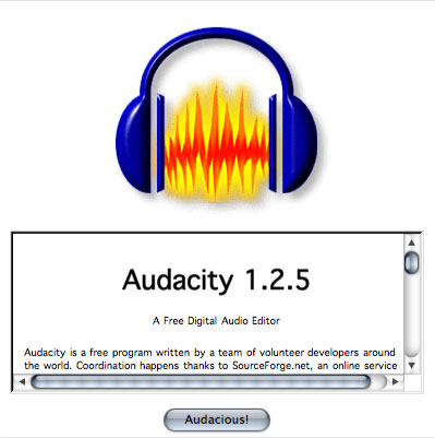 Audacity on a Mac