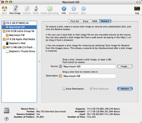 Cloning and backing up your Mac's hard drive