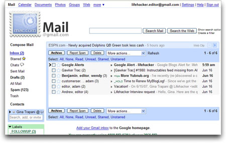 Better Gmail extension for Mac