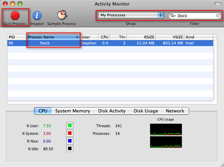 Mac Activity Monitor application