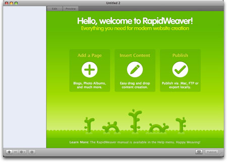 RapidWeaver application for Mac