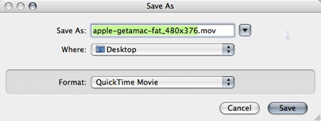 Converting QuickTime movies on a Mac