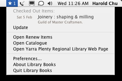 Library Books application for Mac
