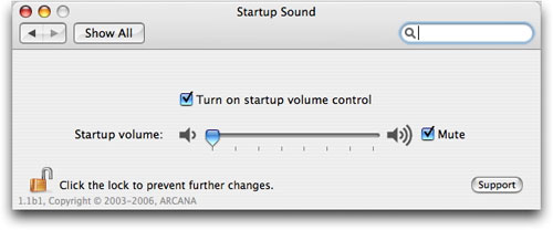 Mute your Mac's startup sound