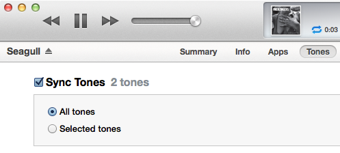 Syncing ringtones with the iPhone