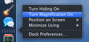 Turning on macOS Finder window magnification