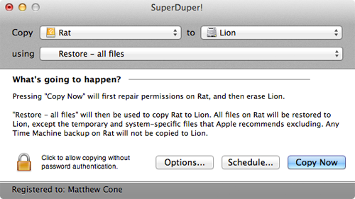 How to Restore from a SuperDuper! Backup | Macinstruct